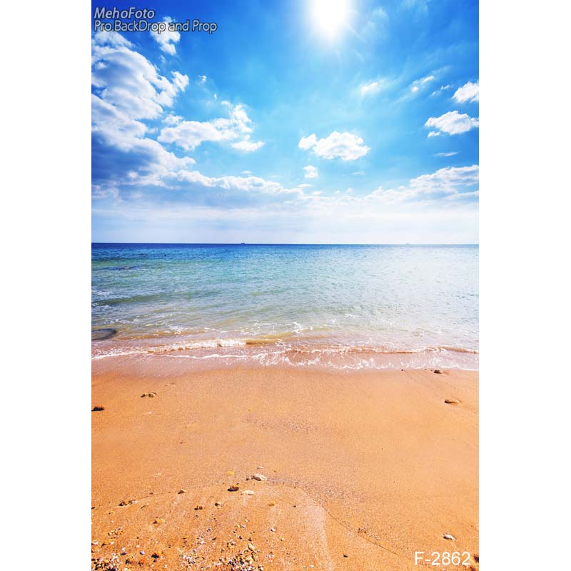 Natural scenery backdrop beautiful sea beach photography backdrops Portrait photo fabric  F-2862 beautiful ocean