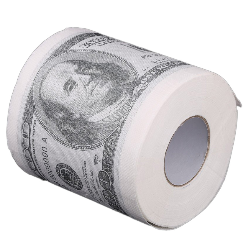 HHFF Toilet Paper Rolls Paper In Pattern For $ 100 White