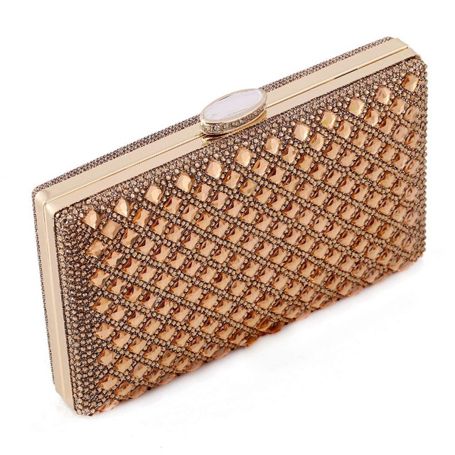 new 2016 gold Clutch Women Evening bags Ladies Crystal Day Clutches Wallet Wedding Purse Party Banquet bag Black/Gold/Silver