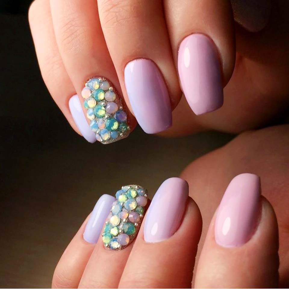 Mix Rhinestones on Nails Opal Crystals of Opal Rhinestones for Nail ...