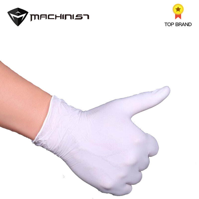 100pcs Auto Car Repair Gloves Rubber Disposable Nitrile Oil-proof Gloves Acid Alkali Resistance Work Repair Waterproof Glove