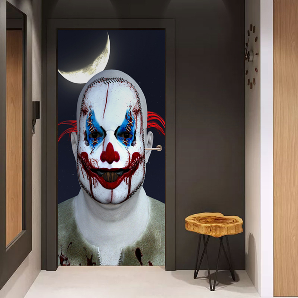 Foreign trade hot Halloween ghost door stickers Glass window stickers creative party wooden door renovation wall stickers