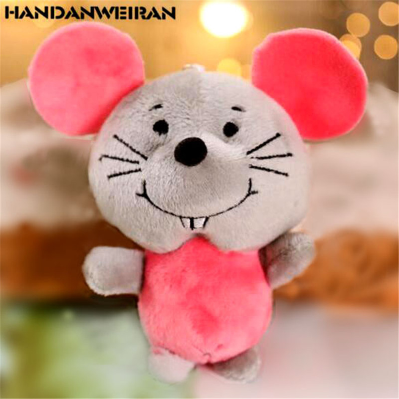1PCS Cute Plush Mouse Toys Small Pendant Children Gift Creative Kawaii Mice Soft Stuffed Toy For Kids Hot Sale 11CM HANDANWEIRAN