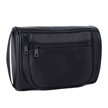 PU Leather Travelling Mini Bag Cosmetic Wash Bag Men Women M