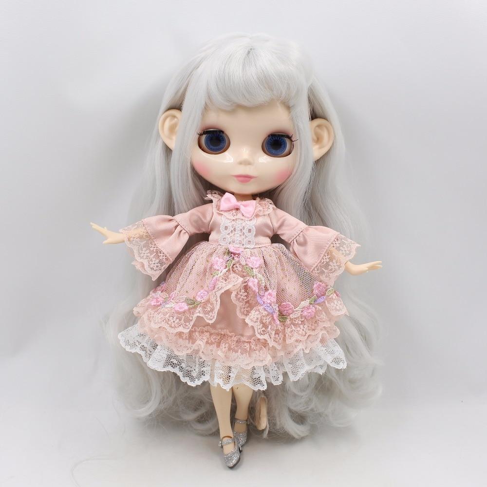 Neo Blythe Doll Princess Pink Flower Dress 1