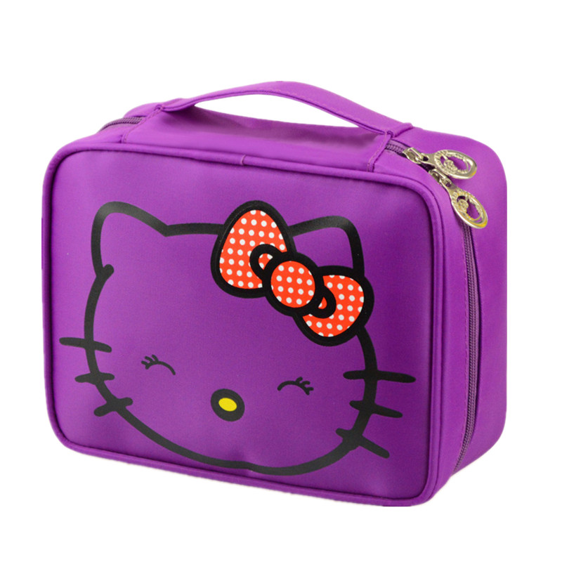 3845f602abd5 Girl s Big Hello Kitty Cosmetic Bag Case Women s Travel Bra Underwear  Storage Pouch Organizer Beauty Vanity Toiletry Makeup Box-in Cosmetic Bags    Cases ...