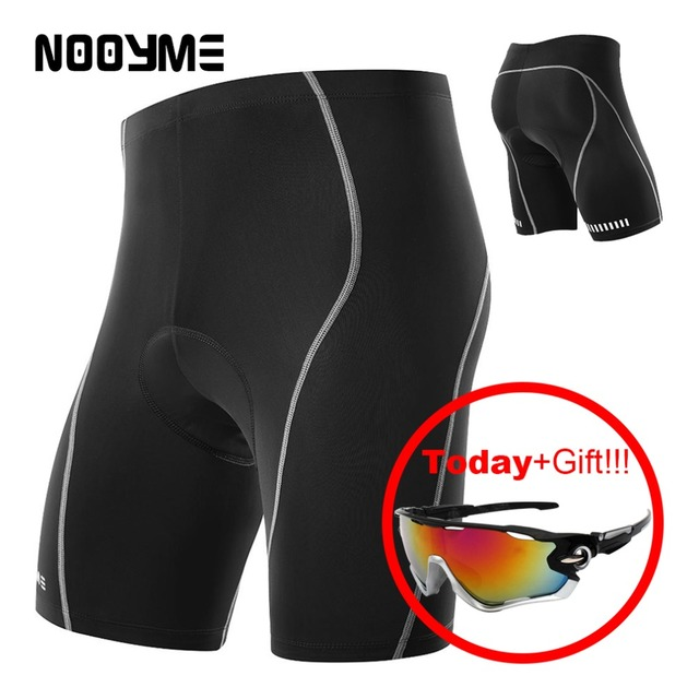 a540a2717 NOOYME men s cycling shorts bike basic shockproof 3D padded mens sport  downhill MTB bermuda racing bicycle tights short for male