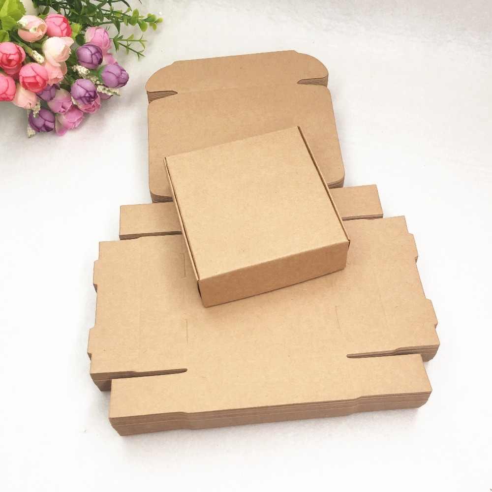 6 20 pcs Aviões De Papel Marrom Kraft Caixas de Presente Caixa de Doces Tamanho Para Sabonete Artesanal Presente da Festa de Casamento Caixas de Embalagens