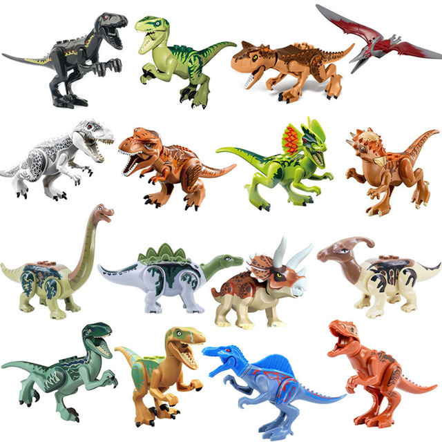 2019 Jurassic World 2 Park Dinosaur Stygimoloch Indoraptor Dino Model Building Blocks Bricks Education Toys For Children Gift