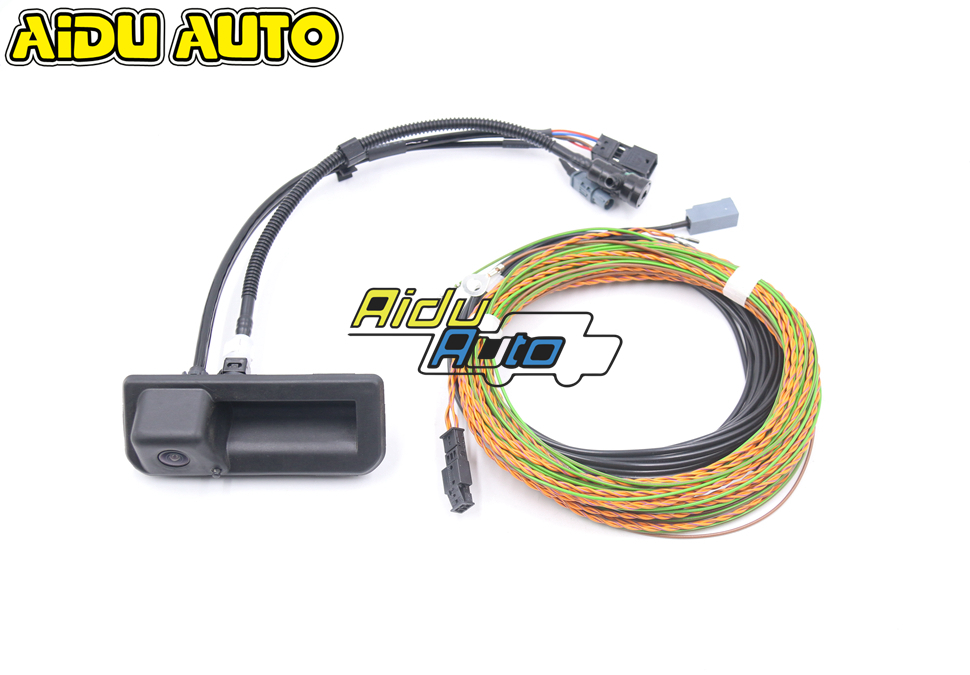 Rear View Camera Trunk Handle With High Guidance Line Wiring Harness For NEW Audi Q5 A5 B9 8W8 827 566 E