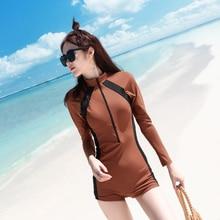 Women One Piece Swimsuit Partysu Student Conservative Swimwear Surfing Wet Suit Wetsuit Bathing Beachwear