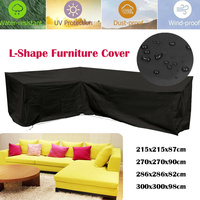 Outdoor L Shape Furniture Cover Waterproof Corner Garden Rattan Sofa Protective Cover All Purpose Dust Covers 4 SIZES