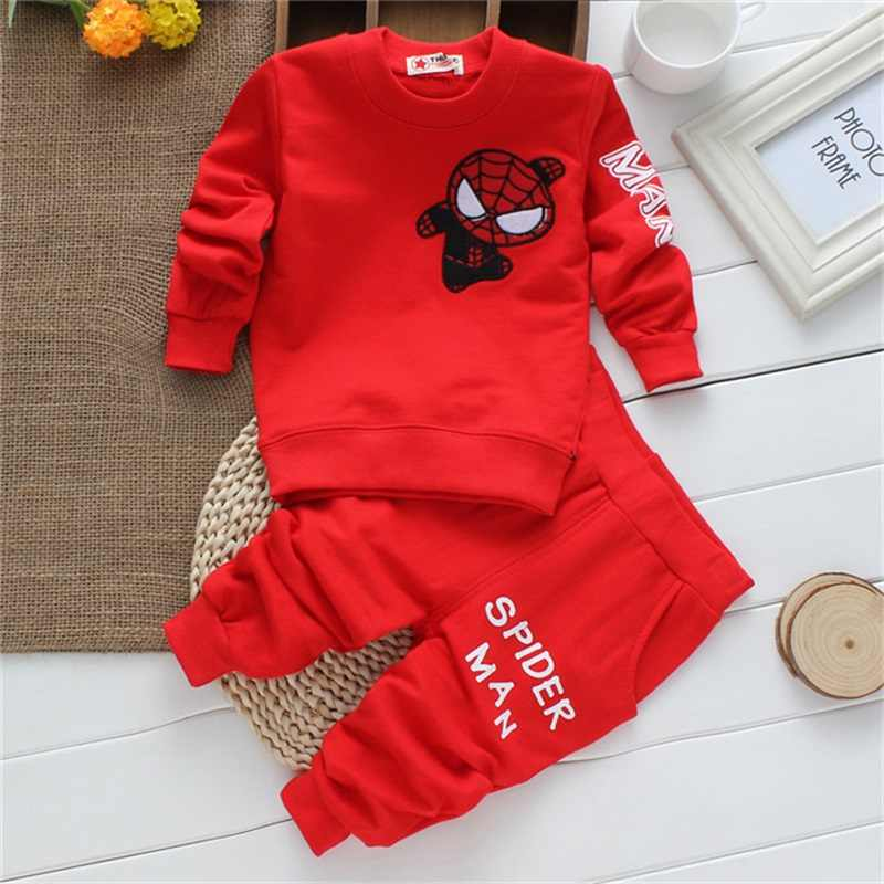 Baby Boys Clothes sets 2019 Spring Autumn Cartoon Long Sleeved T-shirts + Pants Newborn Baby Girls Clothing Kids spider Suits