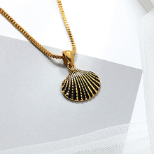 Scallp Shell Necklace noatural Scallop pendant shell Conch Chain Pendant Cowrie for Women The Best Gifts
