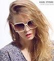 2017 Francês Marca de Luxo Designer Mulheres Óculos De Sol Sem Aro Gradiente de Moda Óculos De Sol espelho Sapo Para as mulheres óculos de Sol da marca