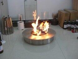 Inno living fire 8 liter ronde rvs brander bioethanol tuin vuurkorf