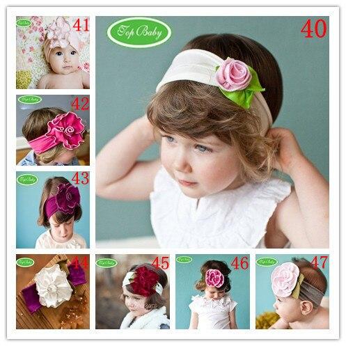 20pcs/lot-TOP BABY HEADBANDs hair head wrap band Girls infant newborn girl's Head band Flower Floral HEADBAND FOR CHILDREN