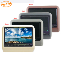 Car Monitor 9″ LCD Digital Screen Headrest Monitor Gray Black Beige Brown 4 Colors Support MP5/DVD/Game