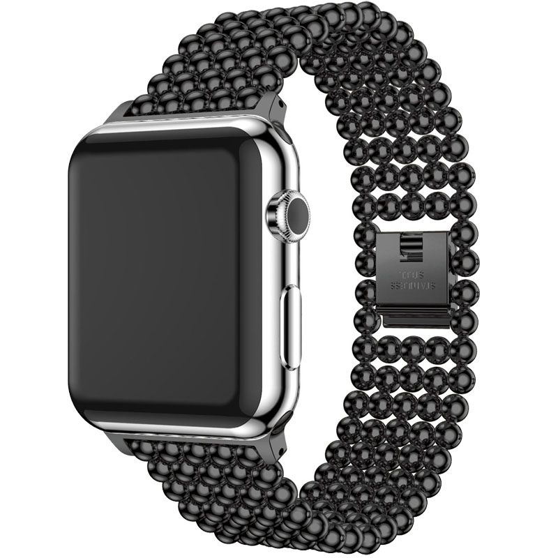 LNOP Edelstahl Armband uhrenarmband Für Apple Uhrenarmband 42mm 38mm iwatch serie 3 2 1 mit Schnalle Clip Adapter