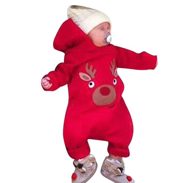 140cfff44 Autumn Winter Baby Clothes Overalls Newborn One Piece Romper Cartoon ...
