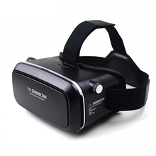 VR Shinecon Virtual Reality 3D Movie Smartphone Game 3D Glasses Helmet 3 D VR Cardboard 4.7-6″ Smart Phone+ Bluetooth Controller