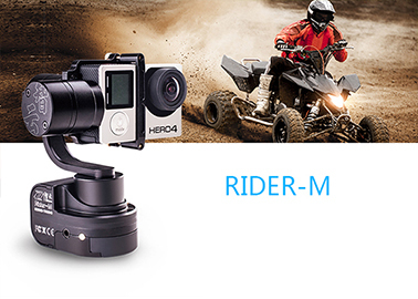 Official Zhiyun [Rider-M] 3-Axis Brushless Wearable 650 motors degree moving gimbal for action camera/ GoPro