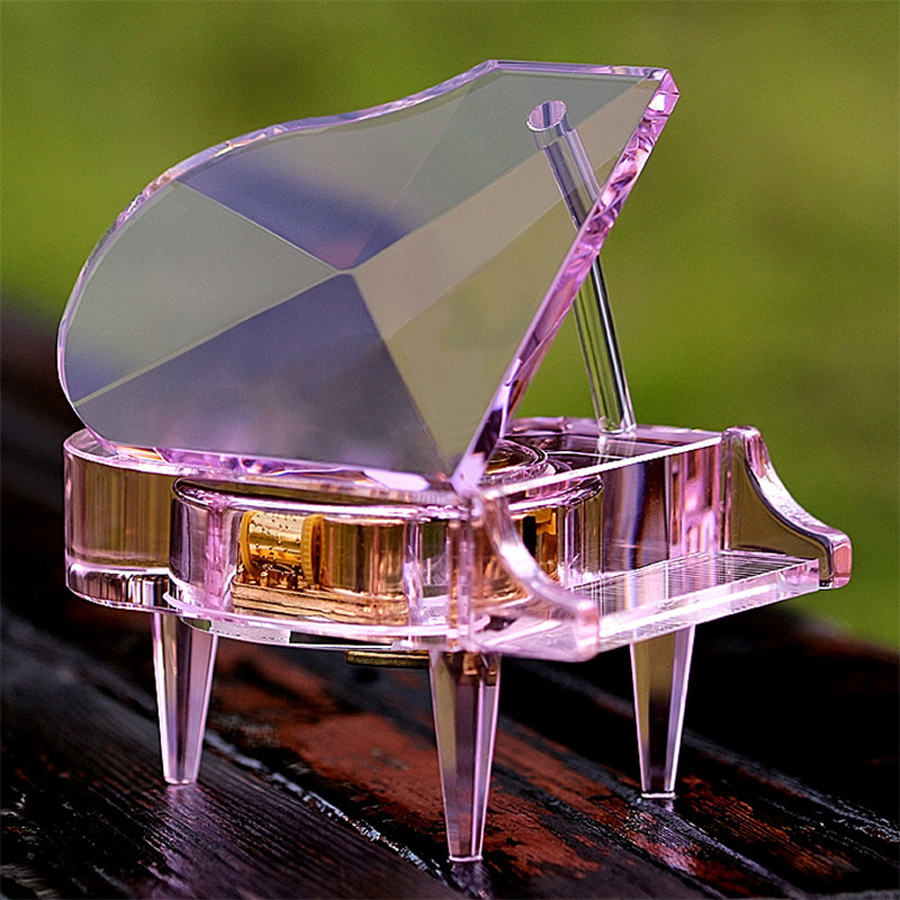 Rhyme movement crystal piano music box creative birthday gift Valentines Day small gifts home ornaments music box mi 313 migix movement music купить дешево в китае