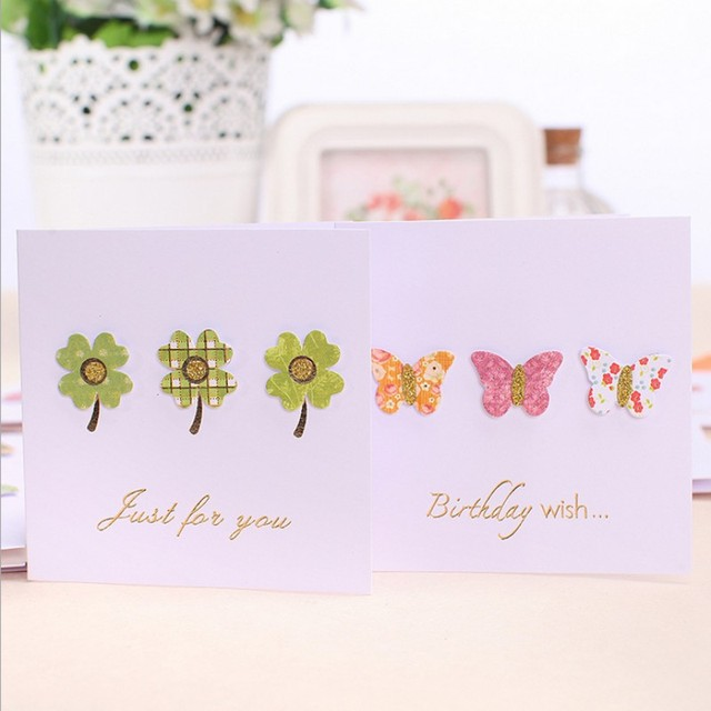 7 Pcs 3d Small Stick Decorations Elegant Sweet Greeting Card
