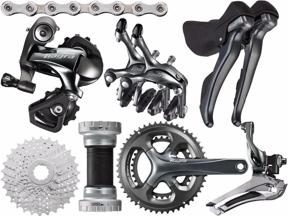 shimano Tiagra 4700 road 170/172.5/175mm 50-34T 52-36T bike bicycle fullset 2x10 speed groupset sti shifter цены