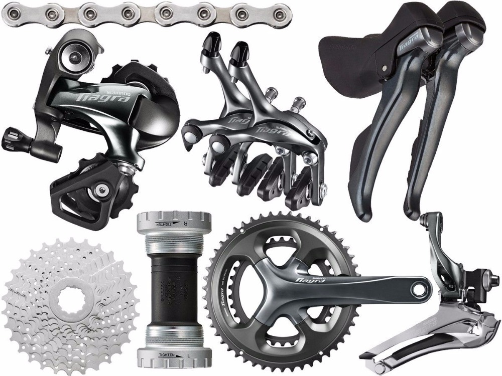 shimano <font><b>Tiagra</b></font> <font><b>4700</b></font> road 165/170/172.5/175mm 50-34T 52-36T bike bicycle fullset 2x10 speed <font><b>groupset</b></font> sti shifter image