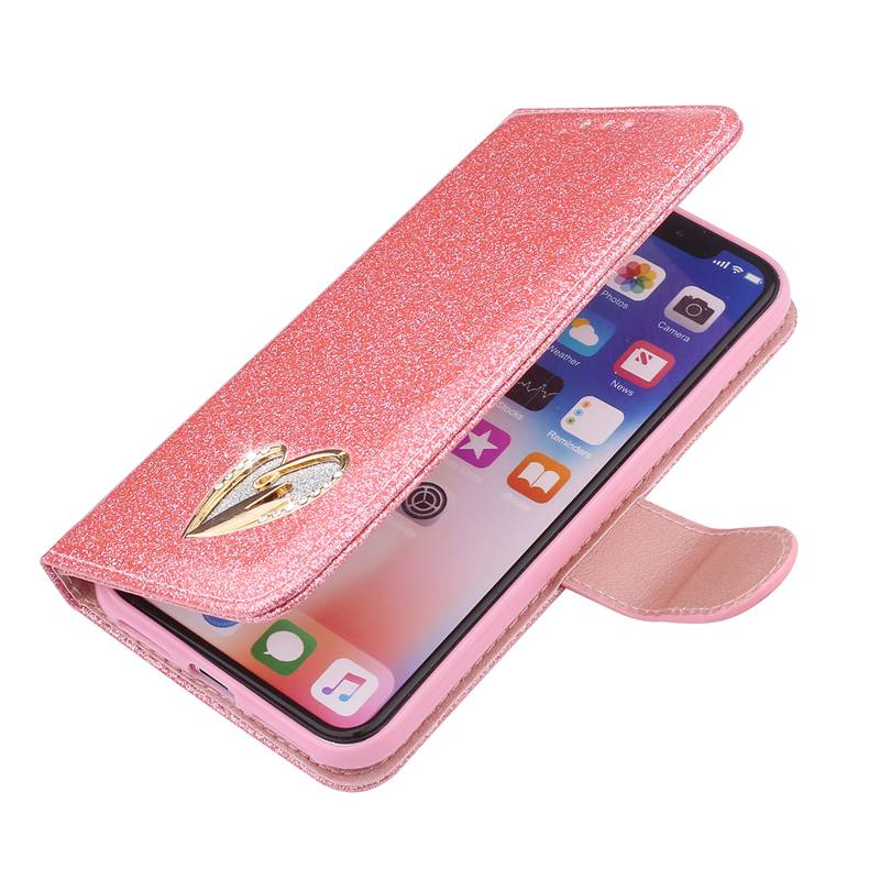 MAKEULIKE Flip Wallet Case For iPhone 5 5S SE Cover Glitter PU Leather Phone Bags Cases For Apple iPhone X 6 6S 7 8 Plus Pouch