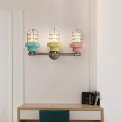 Nordic nowoczesny minimalistyczny osobowości pokój dzienny świeci europejskiej przejściach i korytarzach sypialnia lampki nocne Lampy LED kreatywny E27 lampa ścienna w Lampy ścienne od Lampy i oświetlenie na