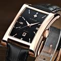 Marca de luxo Relógio Ocasional de Couro Genuíno Dos Homens À Prova D' Água Data Militar Sports Relógios Masculino Relógio Relógio de Quartzo Masculino