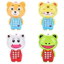 New Electronic Toy Phone For Children Cute Animal Musical Sounding Multifunctional Cell Phone Hanging Bed Bell Toys For Children(China)