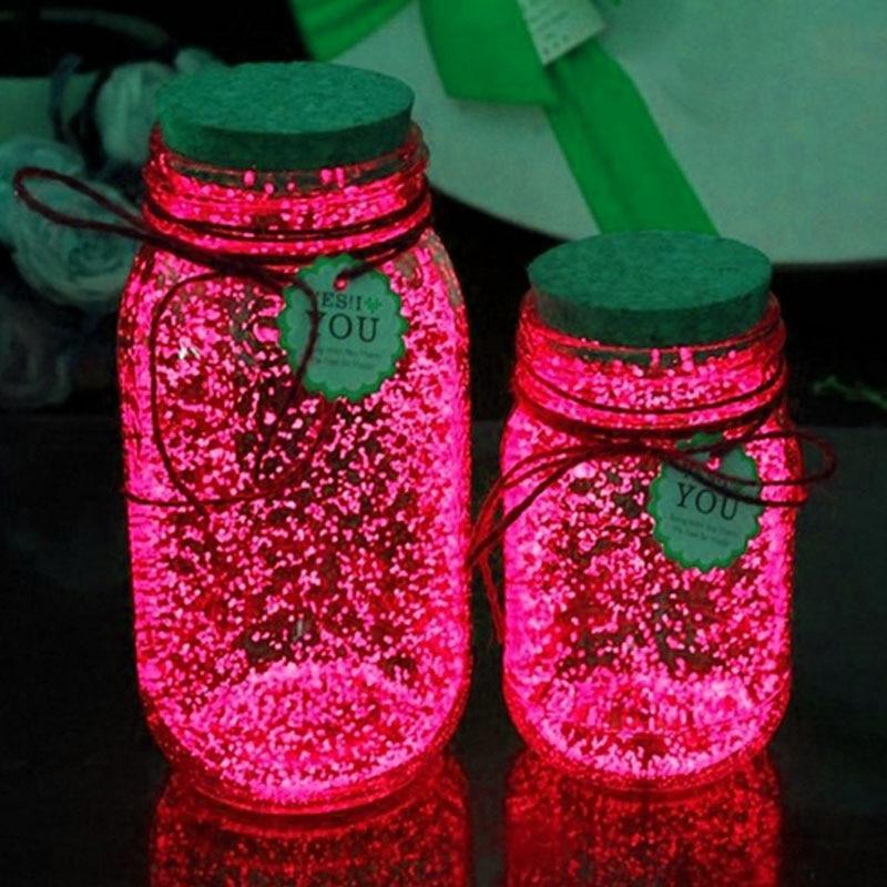 10g Luminous Party DIY Bright Glow in the Dark Paint Star Wishing Bottle Radiationless Fluorescent Powder Romance Gifts luminous glow sand super bright noctilucent sand diy wishing sand 50g lot glow in the dark for wishing glass bottle