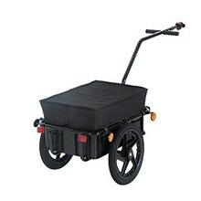 16 дюймов MacBook Air колеса велосипедный прицеп с чемодан, большой Ёмкость закрытый грузовой автомобиль с прицепом, нагрузка 99LBS ПЭТ Коляска Универсал