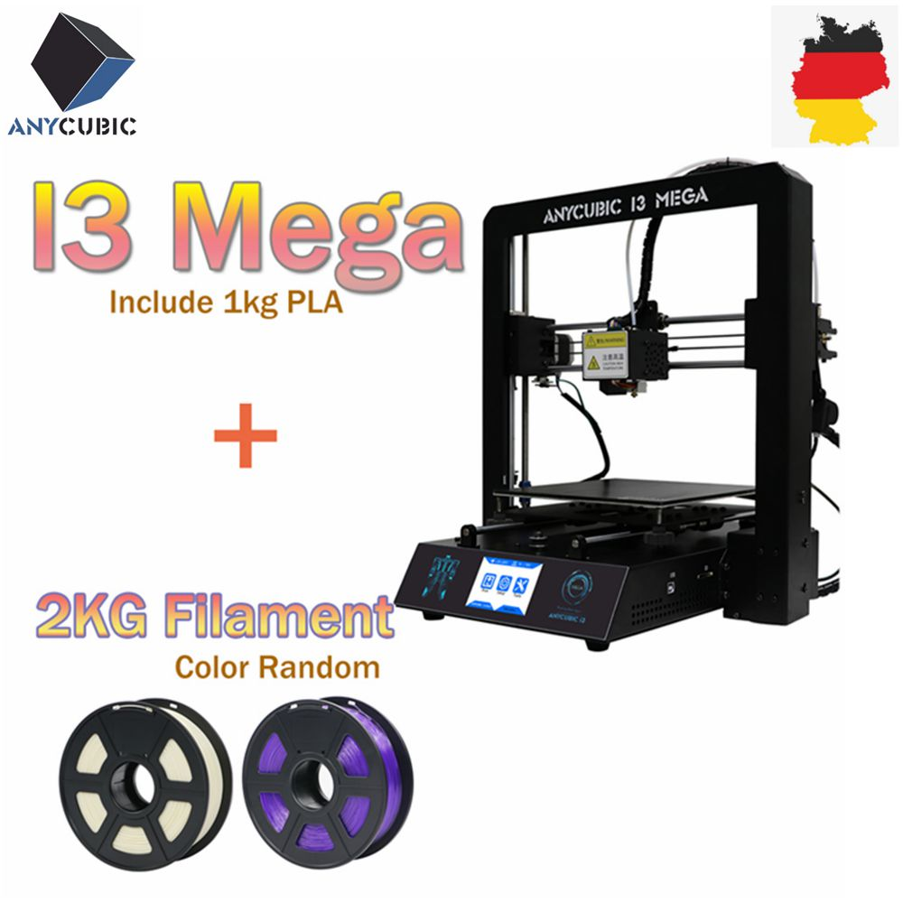 ANYCUBIC 3D Printer Kit I3 Mega With 1Kg PLA Filament Color Touch Screen Newest Printing DIY Set Impresora 3d Drucker 3d Printer(China)
