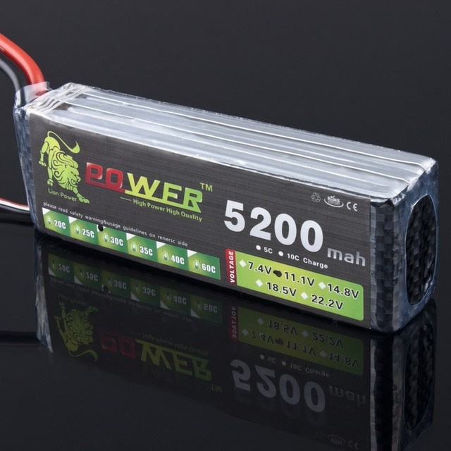 High-Quality LION POWER Lipo 3S Battery 11.1v 5200mAh 30C Battery For RC Helicopter RC Car Boat Quadcopter Remote Control Toys