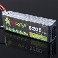 High Quality LION POWER Lipo 3S Battery 11 1v 5200mAh 30C Battery For RC Helicopter RC