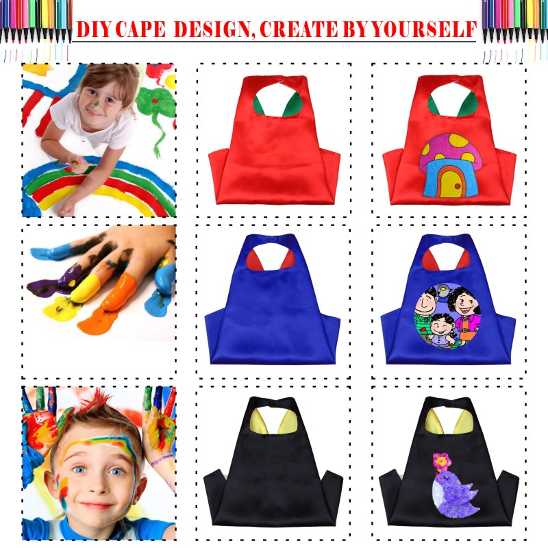 DIY Plain Kids Capes Masks Double Layers Blank Capes Masks Halloween Costumes Gift Cosplay Customize Superhero Capes 50pcs/30pcs-in Boys Costumes from ...  sc 1 st  AliExpress.com & DIY Plain Kids Capes Masks Double Layers Blank Capes Masks Halloween ...