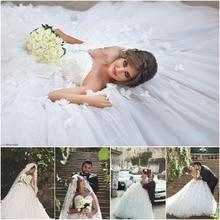 Said Mhamad Luxury Wedding Dresses 2015 Tulle Bridal Dress Gown with Flower Petals Vestido de noiva W137