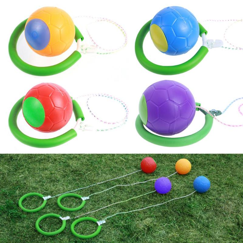 Favorite Bouncing Ball with Foot Ring Fitness Ball QQ Hyun Dance Fitness Jumping Outdoor Toys Games For Kids Birthday Xmas Gift
