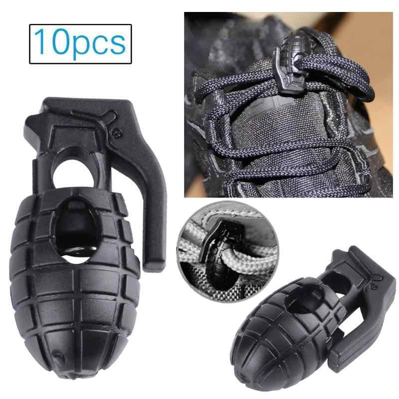 8bd284f7b4e0 10pcs set EDC Grenade Shape Shoelace Buckles Tactical Hiking Boots Press Shoes  Grenade Shoelace Tightening