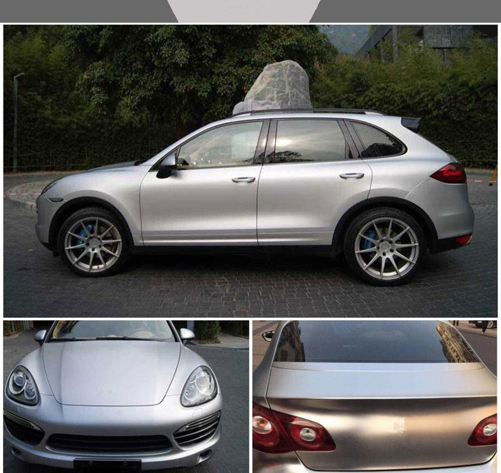 1.52x20m Silver Satin Chrome Vinyl Wrap Stretch Conform DIY Easy to Use Air Release Adhesive Vinyl for the Whole Car Body