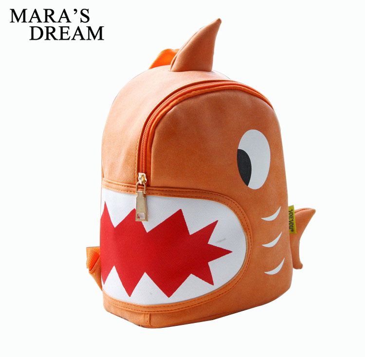 Mara's Dream Animals Kids 3D Shark Backpack Cartoon Bags Waterproof  Children School Bags For Girl Boys Monster Shaped School Bag