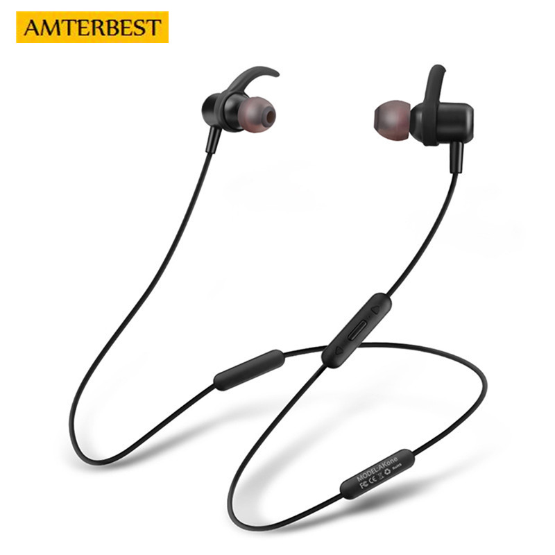 AMTERBEST Wireless Bluetooth Earphones with Mic HD Stereo Sweatproof Earbuds for Gym Running Workout Noise Cancelling Headsets sagotws k5s wireless headphone bluetooth earbuds mini sweatproof sport headsets bluetooth earphones with mic for iphone samsung