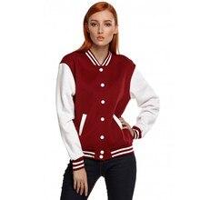 GJ51 Plus Size S-5XL With Velvet Womens Men Raglan Sleeve Solid Color Contrast Wide Waist Jacket Bomper Coat Outwear Outwear