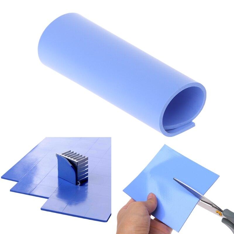 100x100x2mm CPU Thermal Pad Heatsink Cooling Conductive Silicone Pad July Drop ship 1
