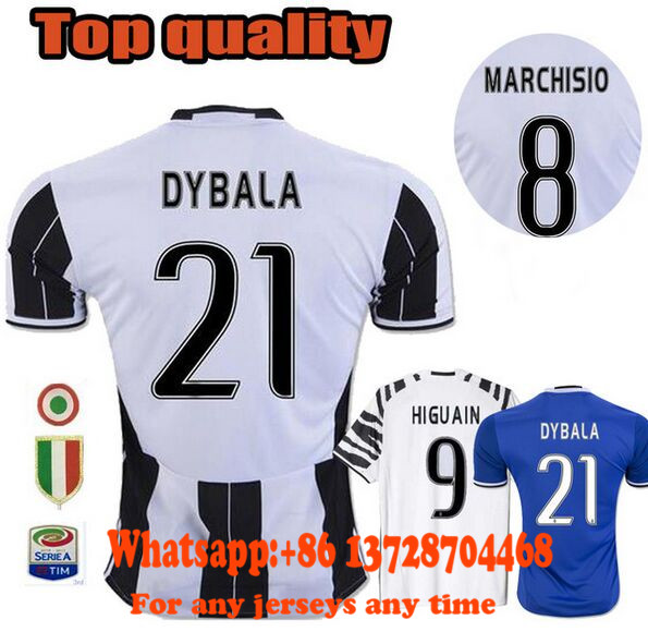 04b534f8b ... Thai Quality Maglie JUVENTUSES 2018 home away thailand quality soccer  jerseys 201617 htrrs 2016 2017 Juventus ...