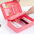 1pcs Pink Portable Travel Toiletry Kits Waterproof Nylon Cosmetic Bag Beauty Case Make Up Organizer Storage Pouch